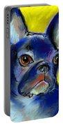 Pensive French Bulldog Portrait Portable Battery Charger by Svetlana Novikova