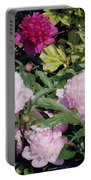 Peonies In Pinks Portable Battery Charger