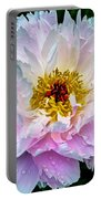 Peony Flower Portable Battery Charger