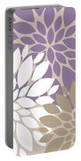 Peony Flowers Portable Battery Charger