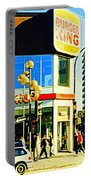 People Enjoy Beautiful Downtown Sainte Catherine Burger King Peel Scene By Hotel Comfort Suites Portable Battery Charger