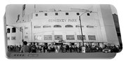 People Outside A Baseball Park, Old Portable Battery Charger