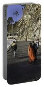 People Walking On The Path Leading To Shrine Of Vaishno Devi Portable Battery Charger