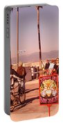 People Walking On The Sidewalk, Venice Portable Battery Charger