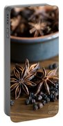 Pepper And Spice Portable Battery Charger by Anne Gilbert