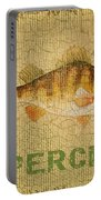 Perch On Burlap Portable Battery Charger