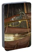 Percussion Cap And Ball Rifle With Powder Horn And Possibles Bag Portable Battery Charger