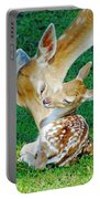 Pere David Deer And Fawn Portable Battery Charger
