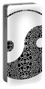 Perfect Balance 1 - Yin And Yang Stone Rock'd Art By Sharon Cummings Portable Battery Charger