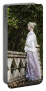 Period Lady On Bridge Portable Battery Charger