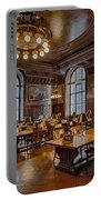 Periodical Room At The New York Public Library Portable Battery Charger