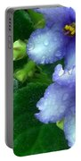 Periwinkle African Violets Portable Battery Charger