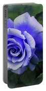 Periwinkle Rose Portable Battery Charger
