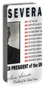 Perseverance Of Abraham Lincoln Portable Battery Charger