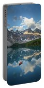 Person In Canoe On Moraine Lake, Banff Portable Battery Charger