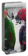 Pet Parrots In A Cafe Portable Battery Charger