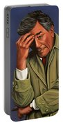 Peter Falk As Columbo Portable Battery Charger by Paul Meijering