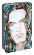 Peter Steele Watercolor Portrait Portable Battery Charger