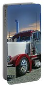 Peterbilt At The Beach  Portable Battery Charger