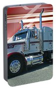 Peterbilt With Burgundy Abstract Portable Battery Charger