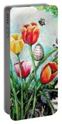 Peters Easter Garden Portable Battery Charger by Shana Rowe Jackson