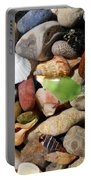 Petoskey Stones L Portable Battery Charger by Michelle Calkins