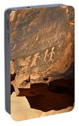 Petroglyphs Portable Battery Charger by Valeria Donaldson