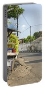 Petrol Stall And Cyclo Taxi In Solo City Indonesia Portable Battery Charger