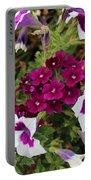 Petunias And Verbena I Portable Battery Charger