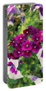 Petunias And Verbena IIi Portable Battery Charger