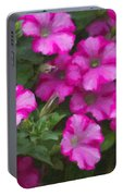 Petunias Oil Painting Portable Battery Charger