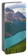Peyto Lake Along Icefield Parkway In Alberta-canada Portable Battery Charger