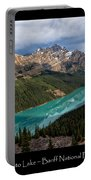 Peyto Lake Poster Portable Battery Charger