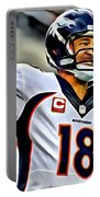 Peyton Manning Throwing The Pass Portable Battery Charger