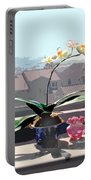 Phalaenopsis Orchid In Sunny Window Portable Battery Charger
