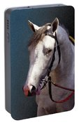 Phantom Lover - Portrait Of A Race Horse Portable Battery Charger