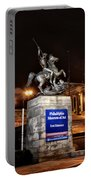 Philadelphia Museum Of Art At Night - East Entrance Portable Battery Charger