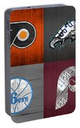 Philadelphia Sports Fan Recycled Vintage Pennsylvania License Plate Art Flyers Eagles 76ers Phillies Portable Battery Charger