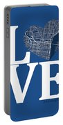 Philadelphia Street Map Love - Philadelphia Pennsylvania Texas R Portable Battery Charger