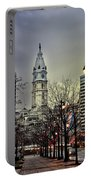Philadelphia's Iconic City Hall Portable Battery Charger by Bill Cannon