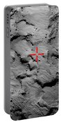 Philae Lander Touchdown Point On Comet Portable Battery Charger