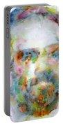 Philip K. Dick Watercolor Portrait.2 Portable Battery Charger