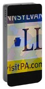 Phillies License Plate Map Portable Battery Charger