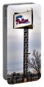 Phillies Stadium Sign Portable Battery Charger by Bill Cannon