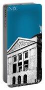 Phoenix Skyline Arizona Capital Building - Steel Blue Portable Battery Charger