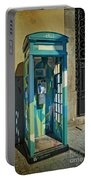 Phone Booth In Blues - Oporto Portable Battery Charger