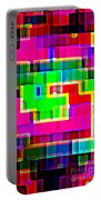Phone Case Art Intricate Colorful Dynamic Abstract City Geometric Designs By Carole Spandau 131 Cbs  Portable Battery Charger