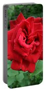 Photograph Reddest Of Roses Portable Battery Charger