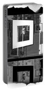 Photographic Artwork Of Woody Allen In A Window Display Portable Battery Charger