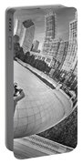 Photographing The Bean - Cloud Gate - Chicago Portable Battery Charger